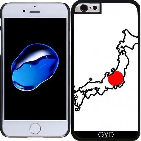 Coque pour Iphone 6 Plus (5,5'') - Japon Carte De Drapeau by Cadellin