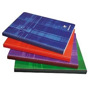 Lot de 5 Cahier reliure brochure 17x22 cm 288 pages petits carreaux papier 90g