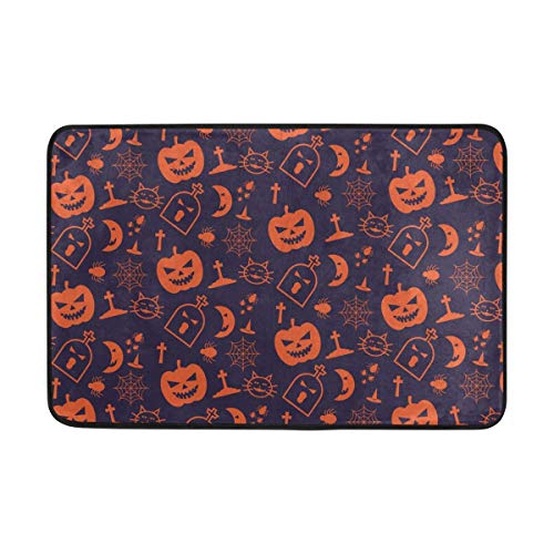 ge Halloween Doormat Indoor/Outdoor Washable Garden Office Door Mat,Kitchen Dining Living Hallway Bathroom Pet Entry Rugs with Non Slip Backing 23.6 x 15.7 inches/40 x 60cm ()