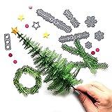VECDY Inneneinrichtung Schablone,Räumungsverkauf-Metall Weihnachtsbaum Kranz Stanzformen Schablone Scrapbook DIY Papier Handwerk Geschenke (A)