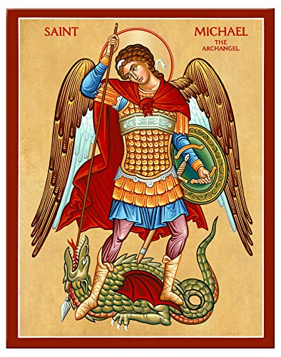 Monastery Icons Erzengel Saint Michael The Defender, Wandbild 7.8