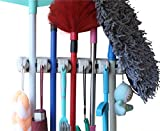 #8: MARZ Mop Holder And Broom Holder, 5 Slot Position With 6 Hooks Garage Storage Holder Up To 11 Tools Wall Mounted, Organize Ideas