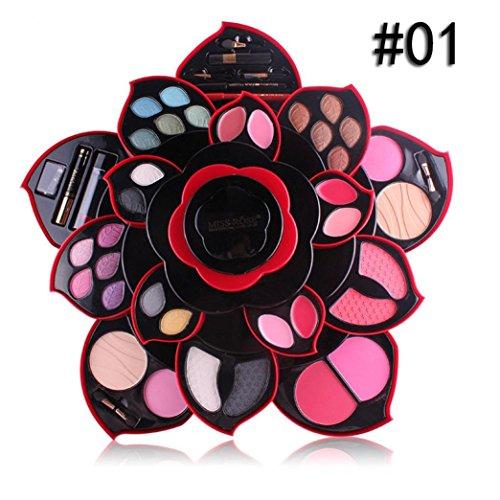 Mallette de Maquillage Trousse Cosmétique Pateau à Ombre à Paupières Fard à Paupières Palette Highlighter Correcteur Fashion 23Colors Luxe Nude Palettes Grand (A)