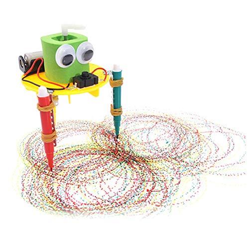 Ogquaton DIY Nette Gekritzel-Zeichnungs-Roboter-Wissenschafts-Experiment-Schule scherzt das pädagogische Spielzeug, das kreativ und nützlich ist