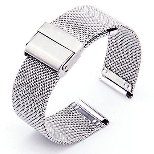 ZHUGE Cinturino Orologio - Cinturino Milanese in acciaio inossidabile 18mm...