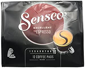 Senseo Typ Espresso, 12 Kaffee Pads, 10er Pack (10 x 95 g)