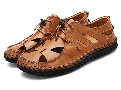 2017 di estate nuovi uomini di sandali di cuoio scarpe da spiaggia scarpe casual traspirante antiscivolo Brown