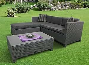 de salon en rotin r sistant aux intemp ries citron vert surface de couchage variable. Black Bedroom Furniture Sets. Home Design Ideas