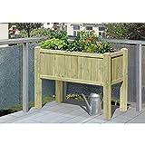 Aiuola rialzata in legno kdi 109x 46x 80cm con inserto 3x Cassetta per piante, erbe Beet per balcone e terrazza di Gartenwelt Riegelsberger 61059