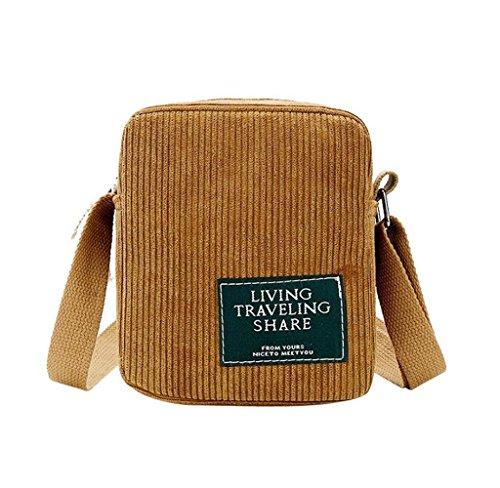 Tomatoa Damen Cross Body Bag Umhängetasche Überschlagtasche Springer Gürteltasche Handtaschen Casual Umhängetaschen für Frauen (Braun)