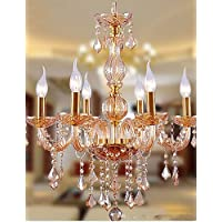 Goud lampadario lampadario–Contemporaneo–con cristallo/lampadina inclusa–Vetro, warm