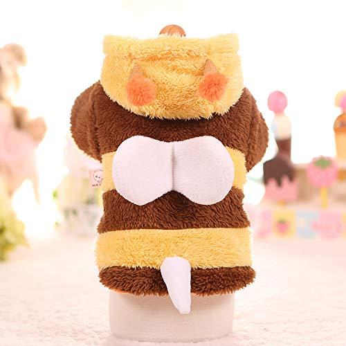 Meihejia Hunde-Kostüm für Kleine Hunde, Biene, Katze, Pullover, Kapuzenpullover, Warmer Mantel, - Kleinen Hunde Biene Kostüm