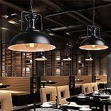 Kronleuchter Kronleuchter aus Eisen Retro industrielle Restaurant Cafe Esstisch Barber Shop Bügeleisen Deckel Arbeitstisch Bar Licht, Schwarz, 42 x 120 cm
