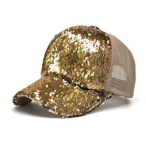 Saingace Unisex Baseball Cap Sommer Sonnenhut Sport Mütze Schirmmütze Kappe Pailletten für Draussen, Sport oder auf Reisen
