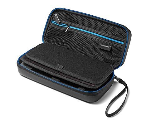 Odyssey Docking-station (Supremery Nintendo Switch Tasche Case Hülle mit Netztasche, Reißverschluss und Handschlaufe - Wasserabweisend in Blau/Schwarz)