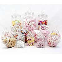 TOP STAR 12 Jar Vintage Victorian Pick & Mix Sweet Shop Candy Buffet Kit Party Pack