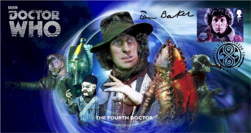 Dr Doctor Who BBC Offizielle 50th Anniversary Limited Edition Tom Baker Unterzeichnet Ersttagsbrief - Die Vierte Doktor - Tom Baker -
