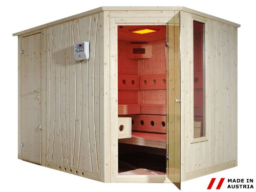 Preisvergleich Produktbild Gaspo Sauna Excellence 140x200 cm mit Eckeinstieg