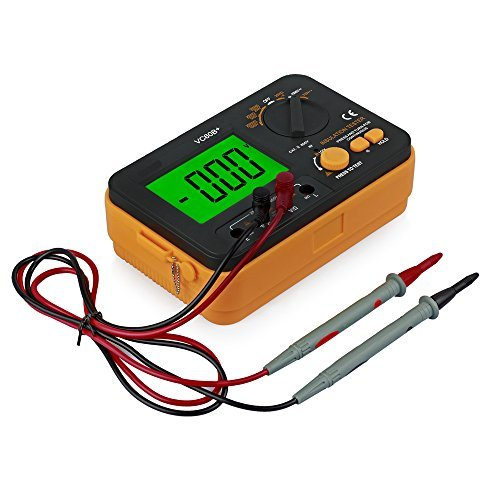 Proster Isolationsmesser Isolationsmessgerät Messgerät VC60B + Digital Isolationswiderstands - Isolierung Megger Tester Tester mit LCD Display DC250/500/1000V Anti-magnetische Anti-Jammen