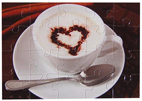 bsb - 493733 - Puzzle Card, mit Umschlag, 20 Teile, Kaffee