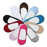 12 Set Damen Füßlinge Ballerina Socken Bunt Gemischt schwarz