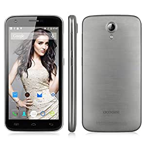 "[2015/8 Nuovo] DOOGEE Y100 Pro 4G Smartphone -- 5.0"" 1280x720 Pixels HD Touchscreen, Android OS 5.1 2GB RAM+16GB ROM, Dual SIM Dual Standby, 2G/3G/4G, Smart Gesti OTG WIFI (Gray)"