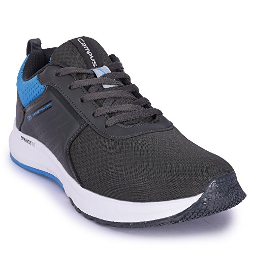 Campus Continent Men's Grey Mesh Running Shoes