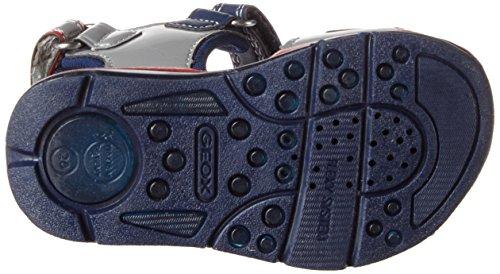 Geox B Sandal Todo Boy A, Chaussures Marche Bébé Garçon Bleu (GREY/NAVYC0665)