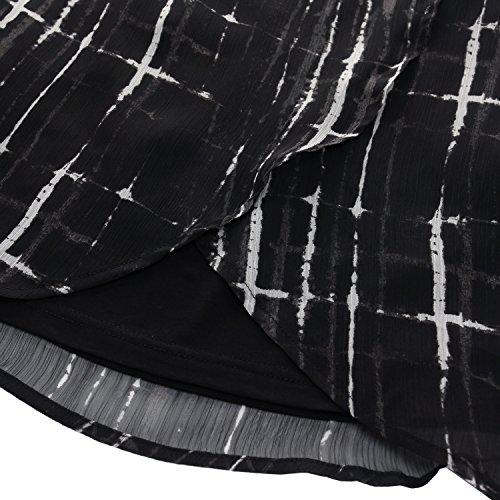 Chicwe Donna Taglie Forti Curvy Fit Cropped Pantaloni Ritagliata con Gamba  Larga Cintura Larga - Pantaloni da Lavoro e Casual 1df15efb87d