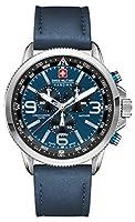 Police. 6-4224.04.003 - Reloj de cuarzo para hombre, con correa de cuero, color azul de INTELIHANCE.