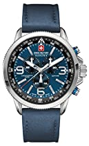 Swiss Military Hanowa Herren-Armbanduhr XL ARROW Chrono Analog Quarz Leder 06-4224.04.003