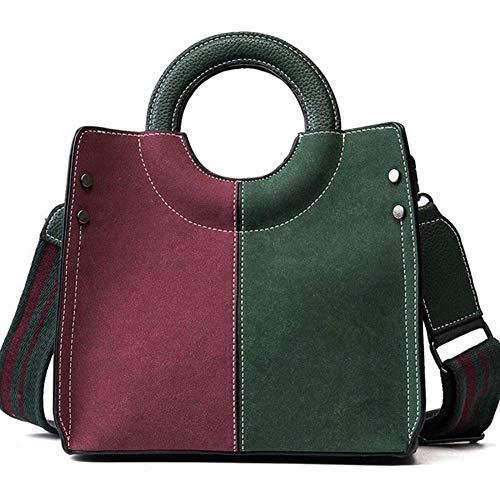 Handtaschen für Frauen PU Leder Damen Nähte Schultertasche Tasche Casual Mode & Arbeit,Green