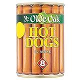 Ye Olde Oak 8 Hot Dogs en saumure 400 g (poids égoutté 8 x 184g) (pack de 6 x 400g)