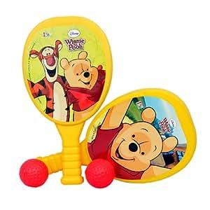Disney My First Plastic Racket Set - Winnie the Pooh, Yellow
