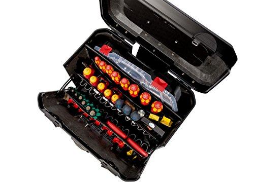 PARAT 2.012.530.981 Evolution Werkzeugkoffer mit genähten Einsteckfächern schwarz/silber (Ohne Inhalt) - 6