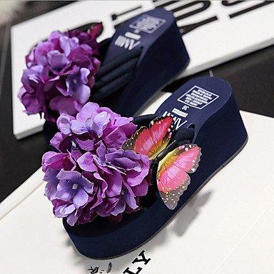 Donne'sscarpe piattaforma tessuto Flip Flop pantofole outdoor Abbigliamento / blu / rosa / Viola / Bianco US7.5 / EU38 / UK5.5 / CN38