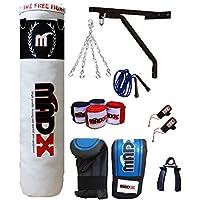 madx 104m rempli lourd sac de frappe de boxe pro set, support mural, gants, MMA