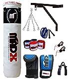 MADX 10Pc 121,92 cm relleno de boxeo saco de boxeo para mujer piezas, soporte de pared, guantes, artes marciales mixtas