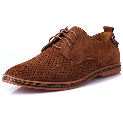 Herren klassischen Leder Wildleder Oxford Schuhe Ledersandalen Lochen atmungsaktive Kleidung