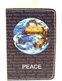 Porte-cartes Paix dans le Monde pour Cartes de Visite et Cartes Bancaires
