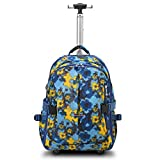 HollyHOME 19 inches Waterproof Wheeled Rolling Backpack for Girls and Boys School Laptop