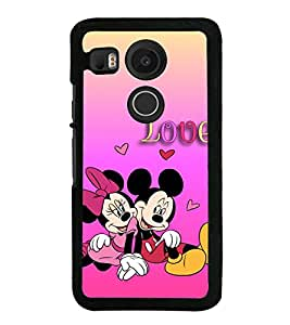 Popular Cartoon Characters 2D Hard Polycarbonate Designer Back Case Cover for LG Nexus 5X :: LG Google Nexus 5X New