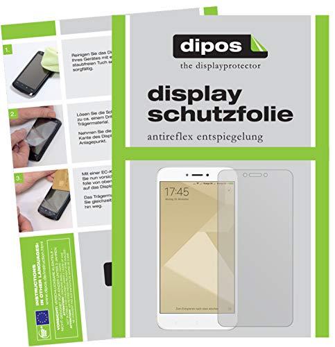 dipos I 2X Schutzfolie matt passend für Xiaomi Redmi 4X Folie Displayschutzfolie
