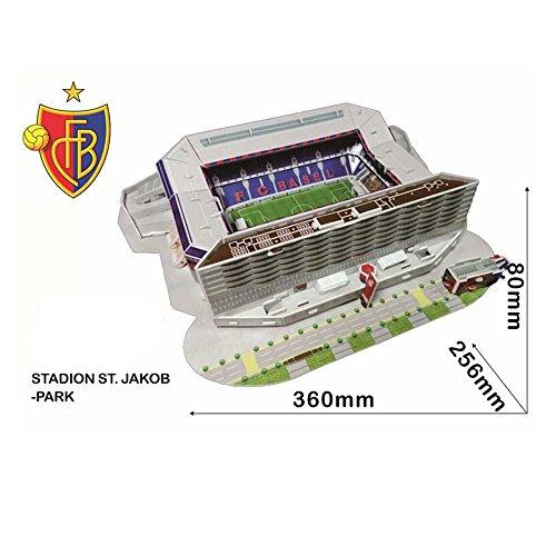 Xueyanwei Coppa Del Mondo Assemblare Puzzle St. Jacob ' S Park Stadium 3D Modello Di Calcio Campo Di Calcio Fans Memorabilia Giocattoli Regalo