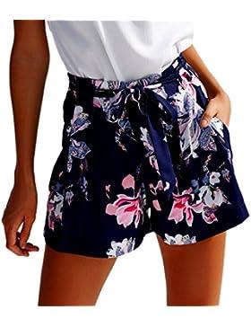 Pantaloncini Vita Alta Donna beautyjourney Pantaloncini Jeans Donn Strappati Corti Estivi Eleganti Pantaloni Donna Corti Estate Shorts Donna Sportivi Eleganti Pigiama Donna Cotone Estivo