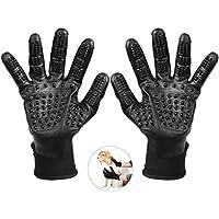 Petacc Fellpflege Handschuh Massagehandschuh für Hunde Massage mit Fünf Finger Design