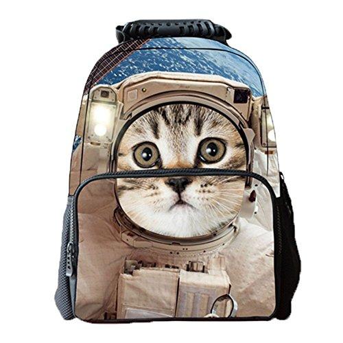 Ohmais 3D Tier Rücksack Rucksäcke Backpack Daypack Schulranzen Schulrucksack Wanderrucksack Schultasche Rucksack für Schülerin Katze2