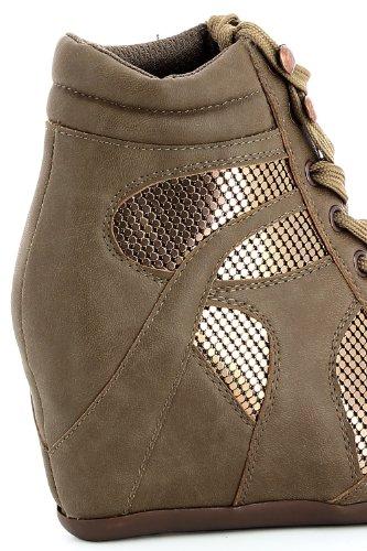 Go Tendance ,  Sneaker donna Beige (Grigio tortora)