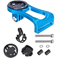 huici Soporte de aluminio para bicicleta para ordenador, soporte de alargador de tallo de bicicleta para GPS/Stopwatch/Sports Camera, 0.11, color azul
