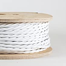Cordon trenzado cubierto con tela italiana blanco